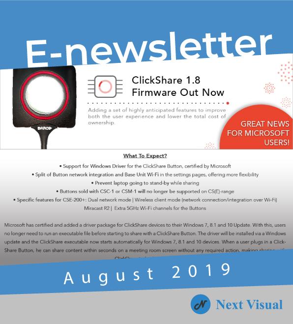 E-newsletter Aug 2019